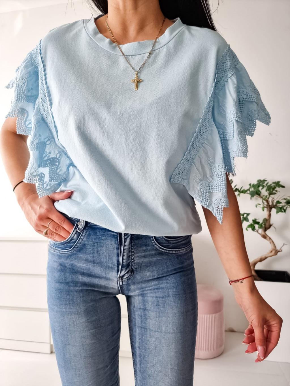 Bavlnené tričko Kelly - modré