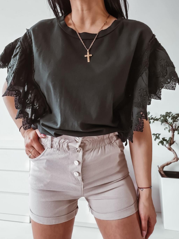 Bavlnené tričko Kelly - čierne