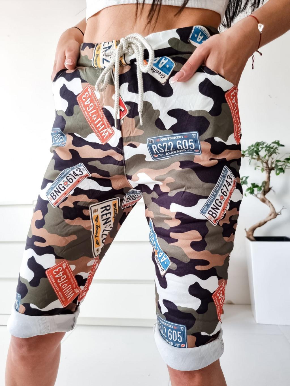 Dámske krátke nohavice Army - zelené