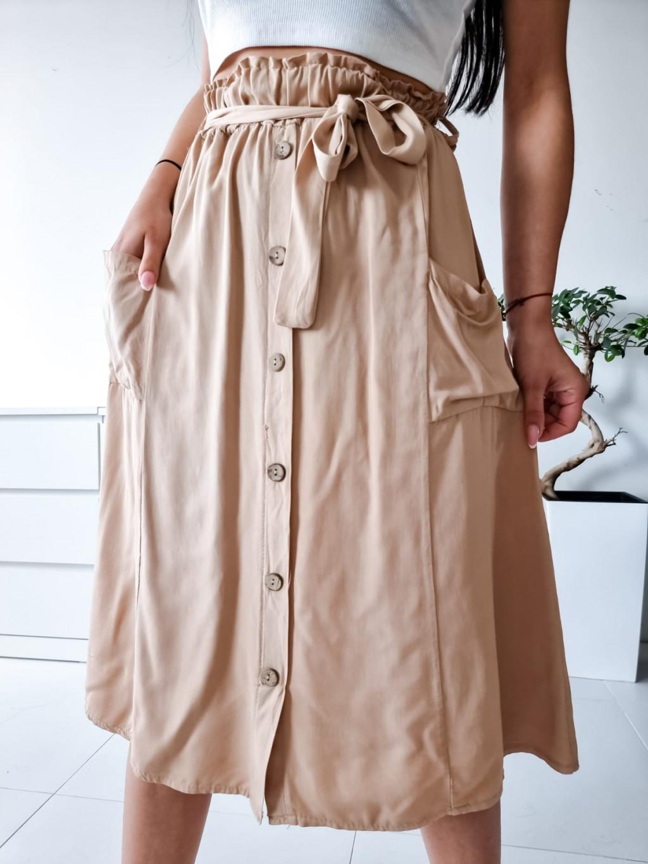 Midi sukňa Sanela - bežová