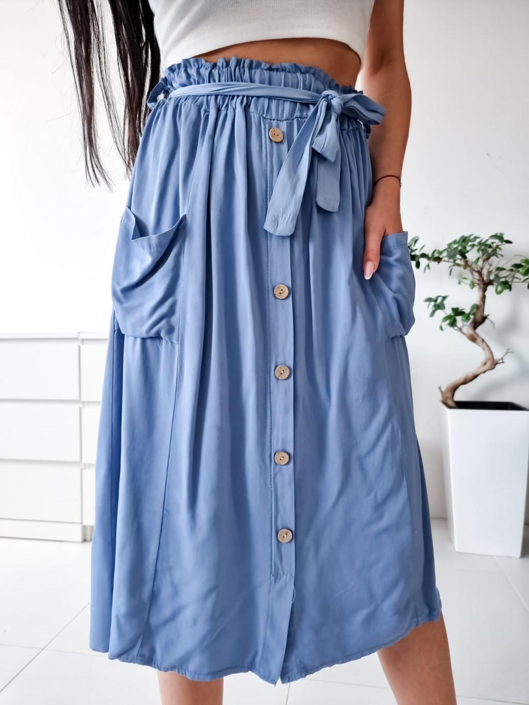 Midi sukňa Sanela - modrá