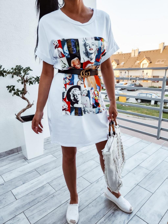 Tunikové šaty Mari - biele