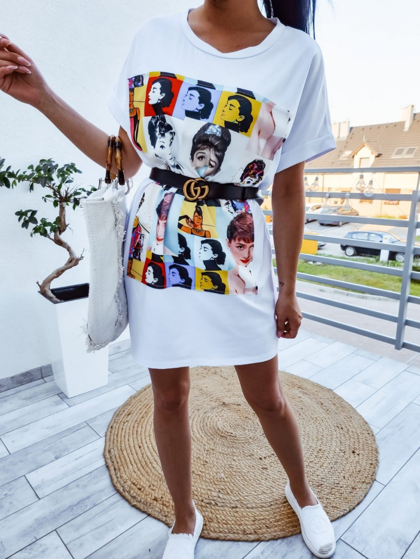 Tunikové šaty Audrey - biele