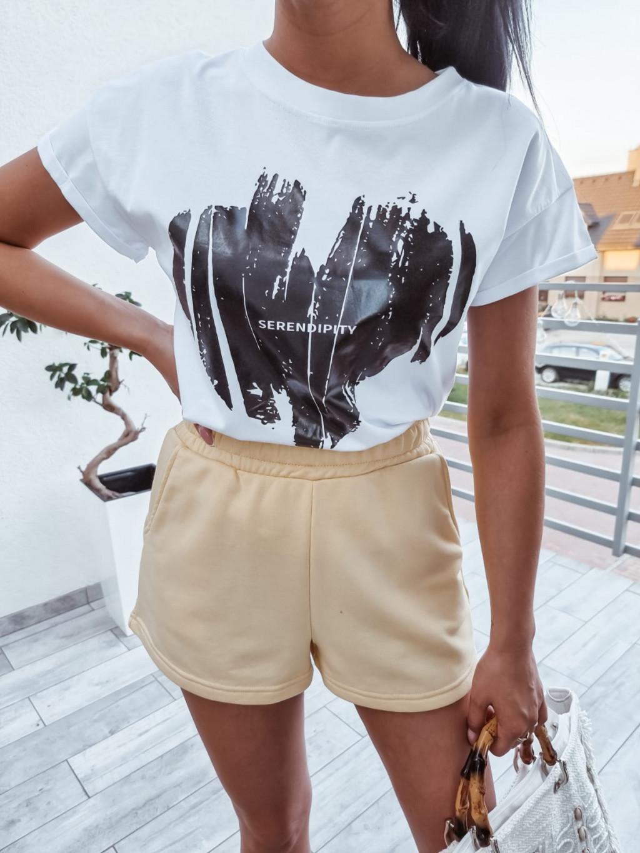 Dámske bavlnené tričko Serena - biele
