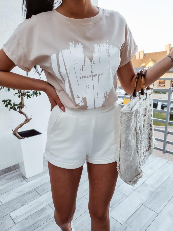 Dámske bavlnené tričko Serena - bežové