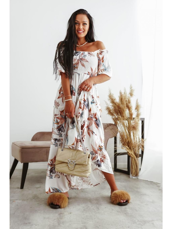 Maxi šaty Lily - ecru