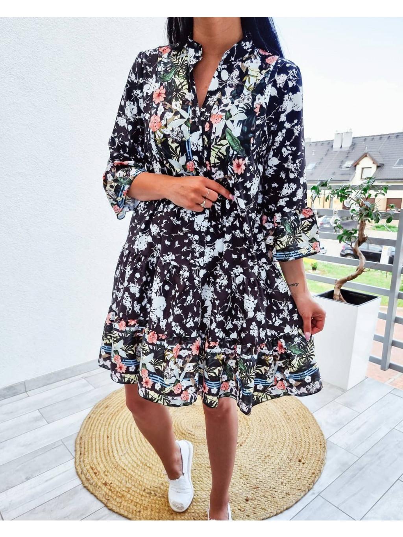 Voľné dámske šaty Caroline - čierne