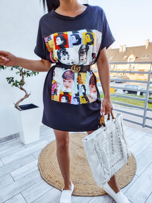 Tunikové šaty Audrey - čierne