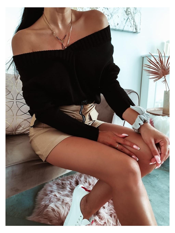 Dámsky basic sveter - čierny