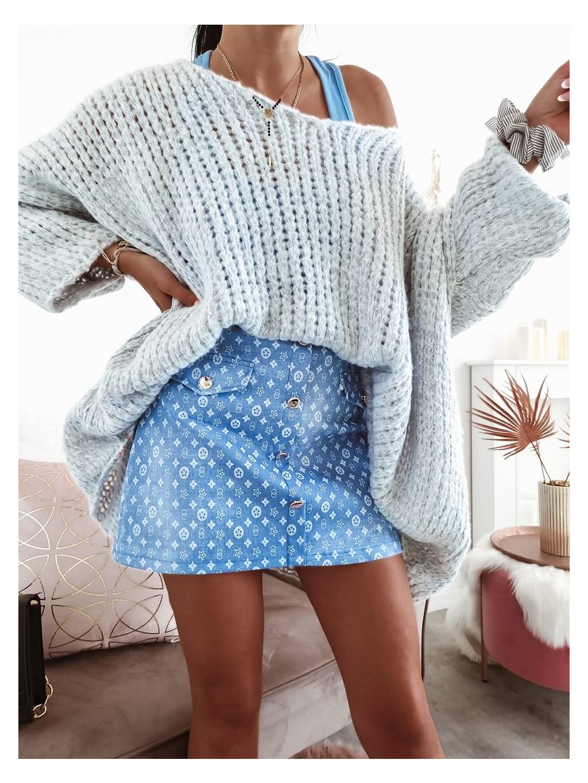 Oversize sveter Moly - sivý