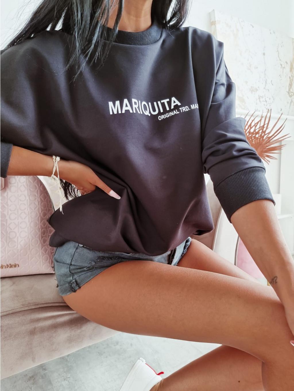 Dámska oversize mikina Mariquita - čierna