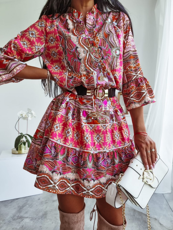 Voľné dámske šaty Soraya - tehlové