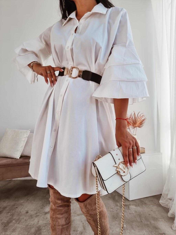 Košeľové šaty Cassidy - biele