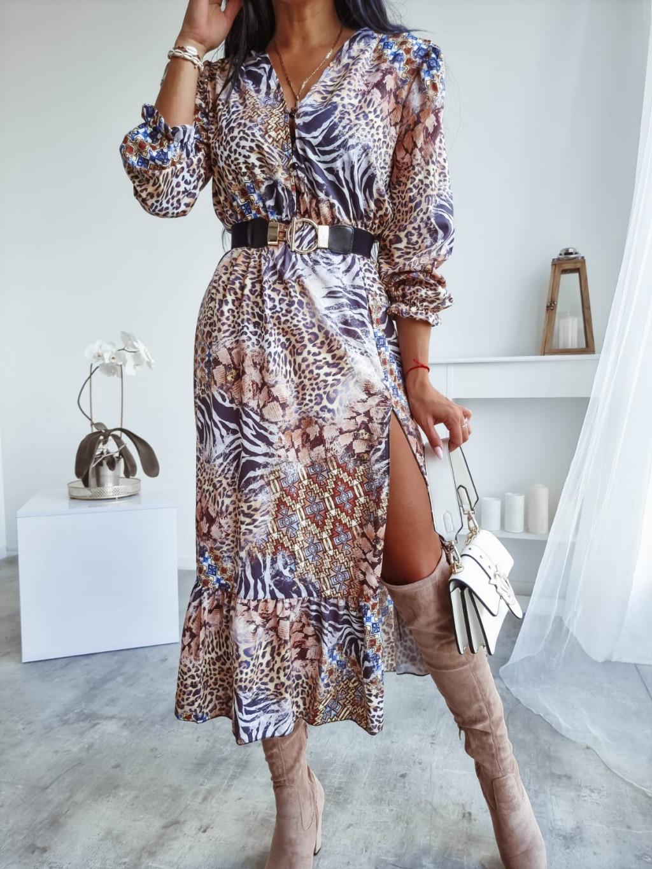 Dlhé vzorované šaty Jamal
