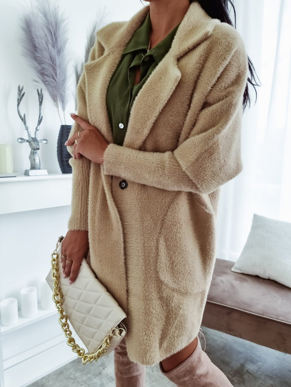 Dámsky kabát Alpaka Queen - bežový
