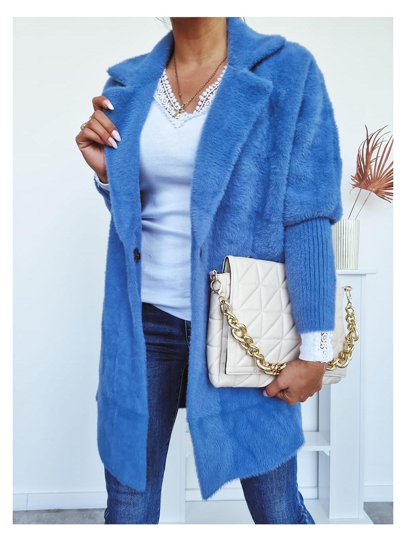 Dámsky kabát Alpaka Queen - modrý