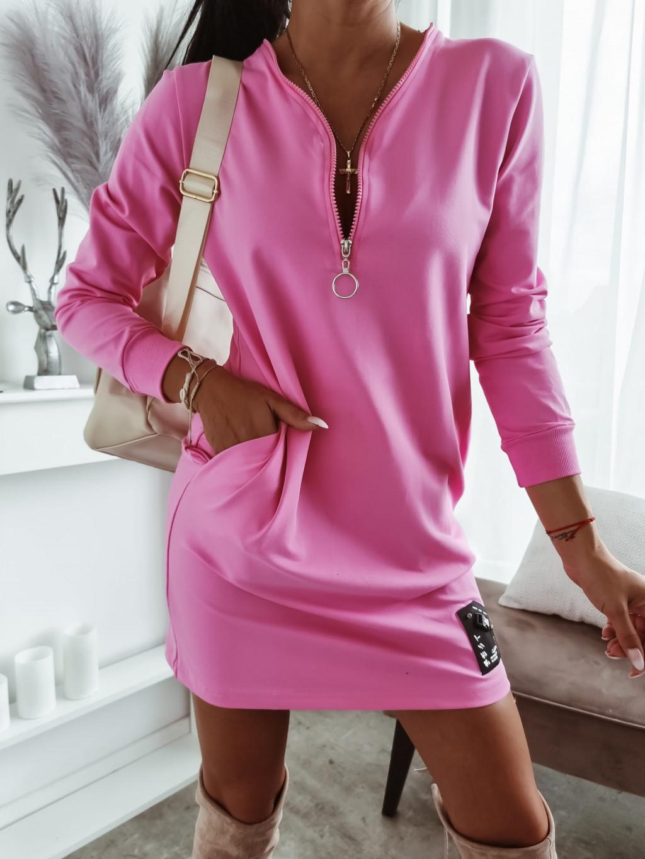 Tunikové šaty Melissa - ružové