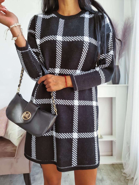 Pletené šaty Camila - čierne