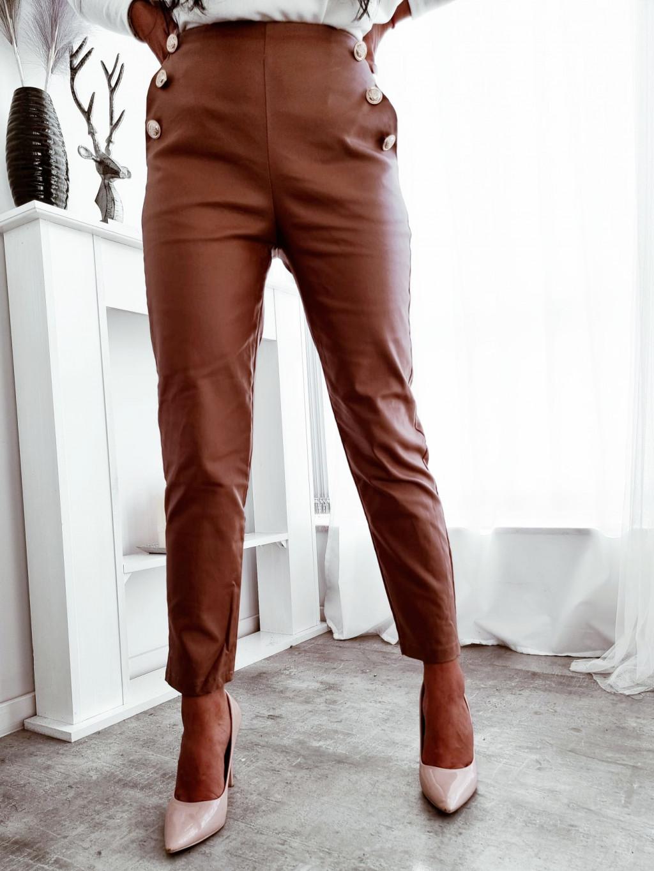 Dámske koženkové nohavice Blaze - camel