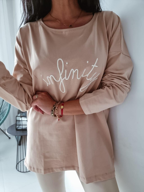 Dámske oversize tričko Infinity - bežové