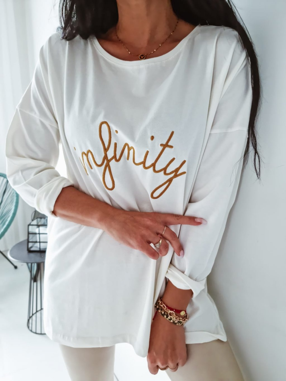 Dámske oversize tričko Infinity - ecru