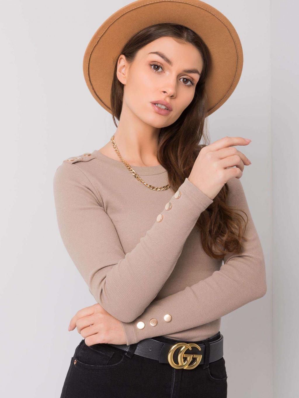 pol pl Ciemnobezowa bluzka Diana RUE PARIS 357956 1
