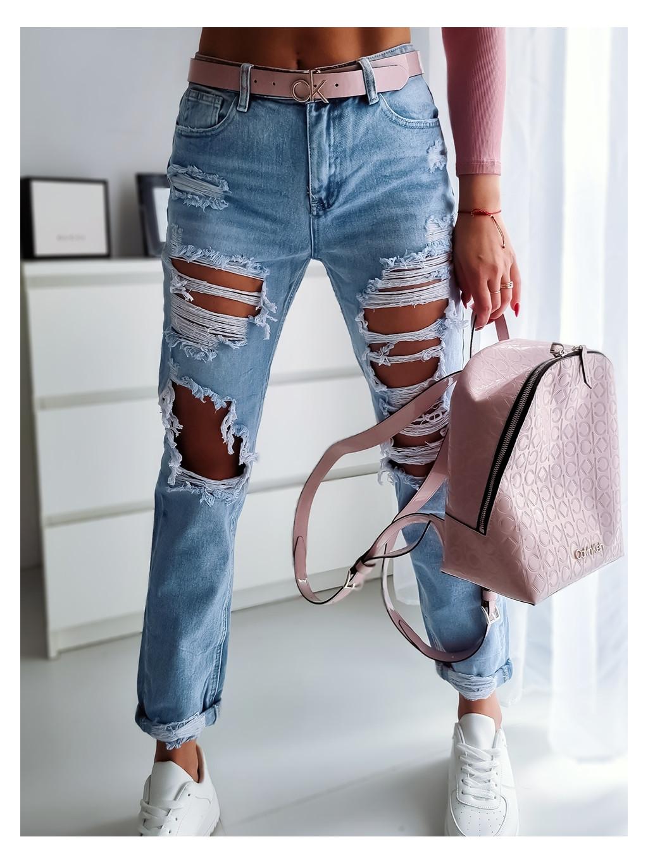 Mom jeans RE3657 - modré