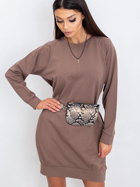 pol pl Ciemnobezowa sukienka Cristine 337859 1