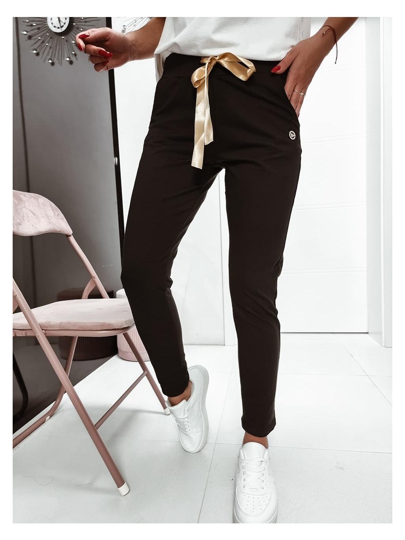 Teplákové nohavice Gold - čierne