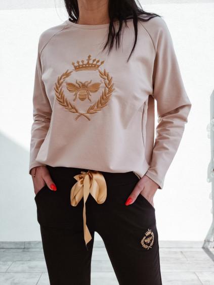 Dámska mikina Gold Bee - nude