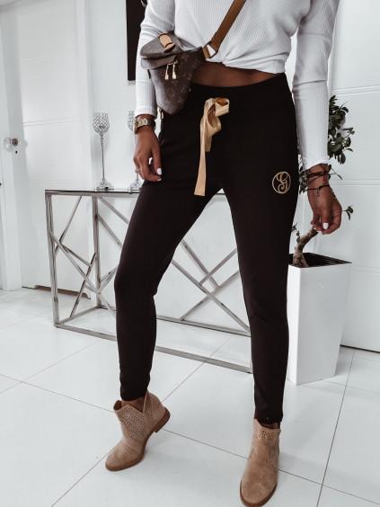 Teplákové nohavice Gold G- čierne