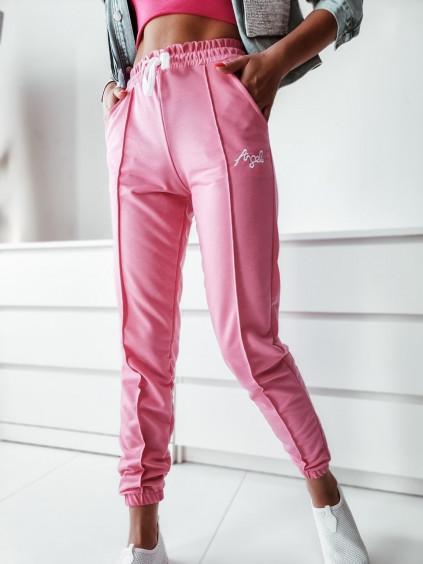 Teplákové nohavice Angel - ružové