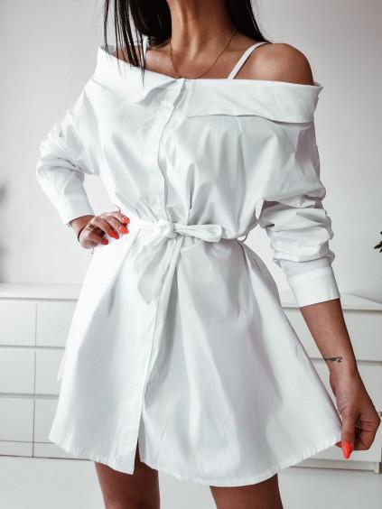 Dámske košeľové šaty Melinda - biele