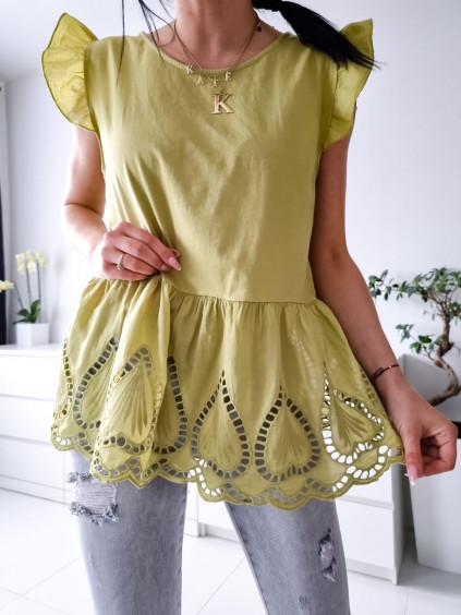 Bavlnený top Melina - žltý
