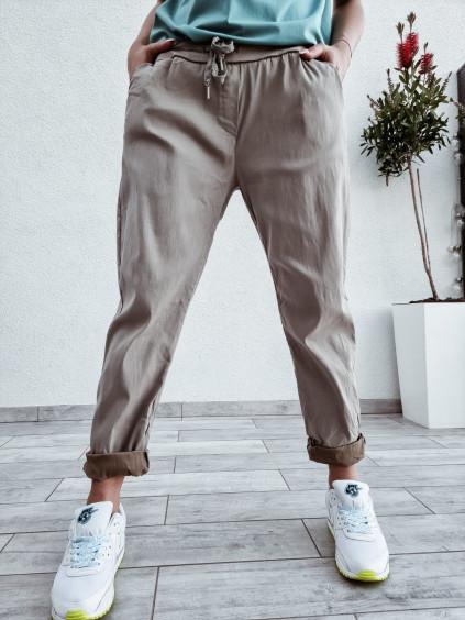 Dámske bavlnené nohavice Imagine - hnedé