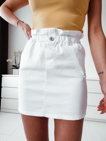 Dámska rifľová sukňa - biela