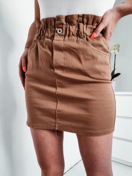 Dámska rifľová sukňa - hnedá