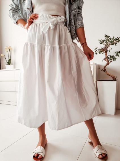 Midi sukňa Sylvia - biela
