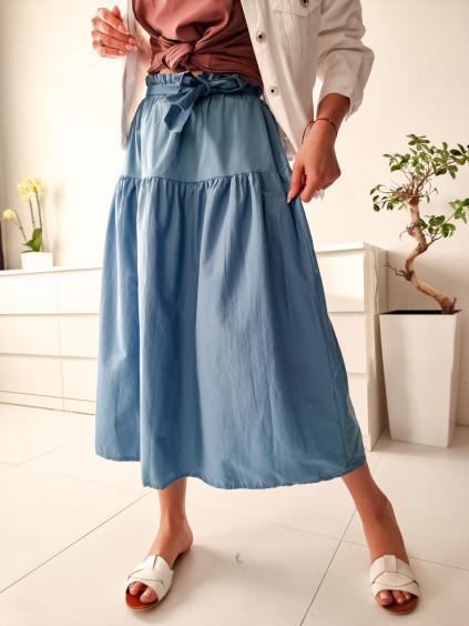 Midi sukňa Sylvia - modrá