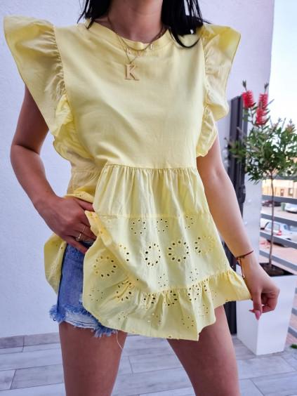 Madeirový top Mery - žltý