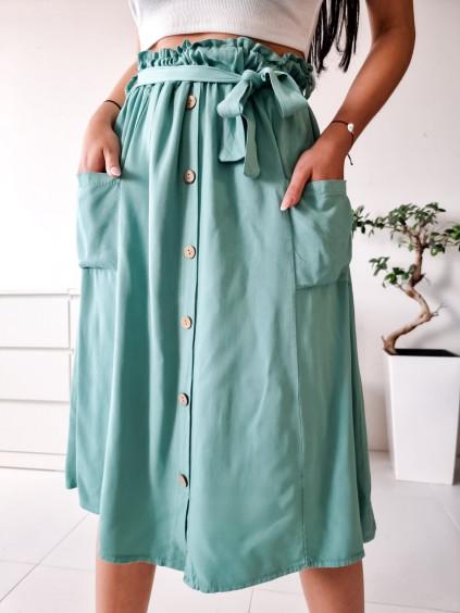 Midi sukňa Sanela - mätová