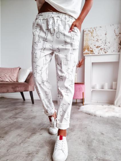 Dámske nohavice Elite - biele