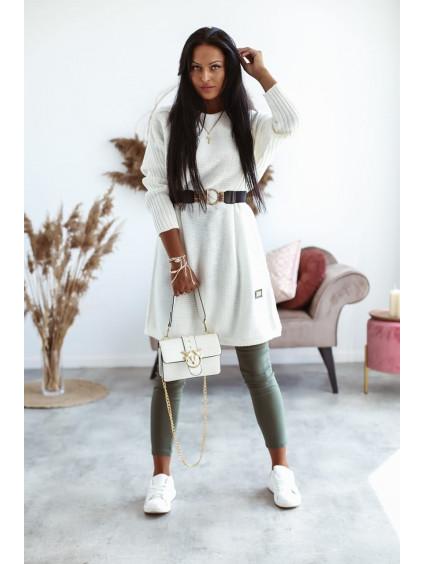 Pletené šaty Mirabel - biele