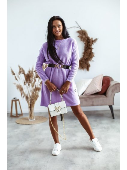 Pletené šaty Mirabel - fialové