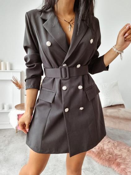 Sakové šaty Kamada - čierne