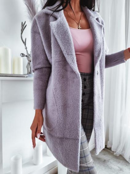 Dámsky kabát Alpaka Queen - sivý