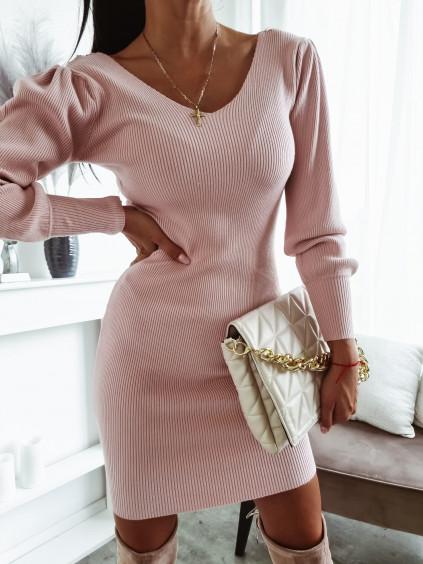 Úpletové šaty Felice - ružové