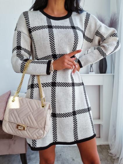 Pletené šaty Camila - bežové