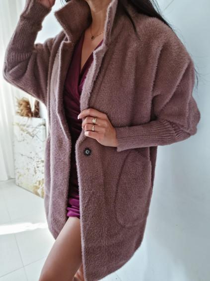 Dámsky kabát Alpaka Queen - hnedý