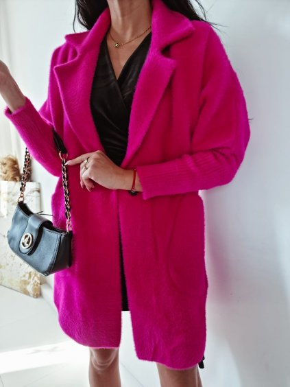 Dámsky kabát Alpaka Queen - fuchsiový
